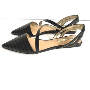 Rachel Zoe Pointed roe Sling back strapped flats